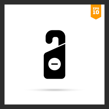 do not disturb sign: Icon of Do not disturb sign with minus in circle Illustration