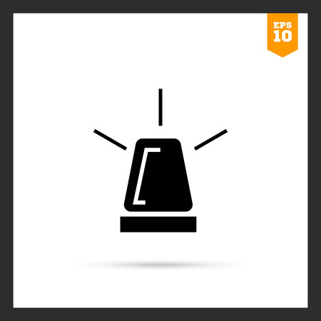 flashing light: Vector icon of glowing roof  flashing light
