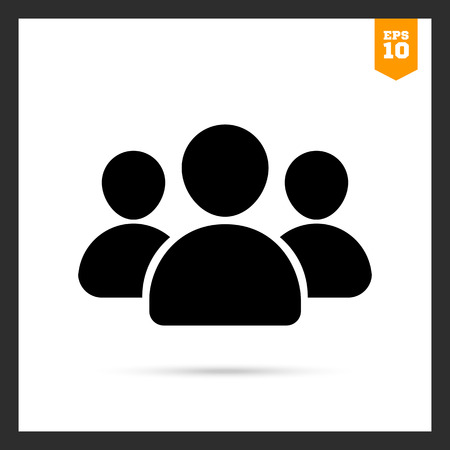 small group: Vector icon of small group of people silhouettes