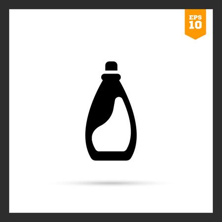 bleach: Icon of plastic bottle of liquid laundry detergent