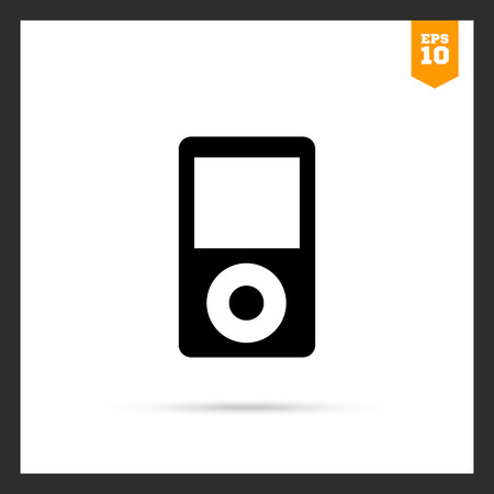 display: Vector icon of mp3 player with blank display
