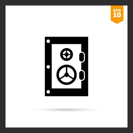 locked the door: Vector icon of safe with two locks