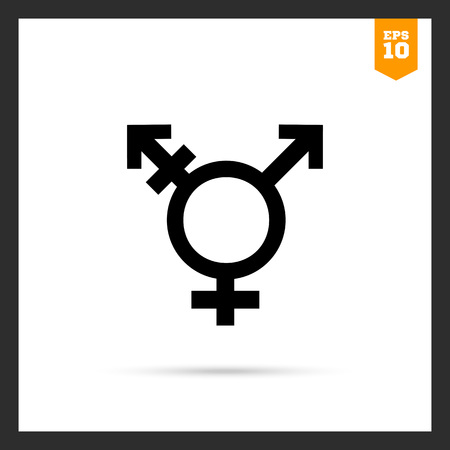 Vector icon of transgender symbol combining gender symbols