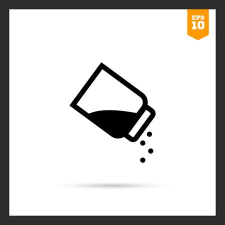 SHAKER: Vector icon of seasoning with pepper using pepper shaker Illustration