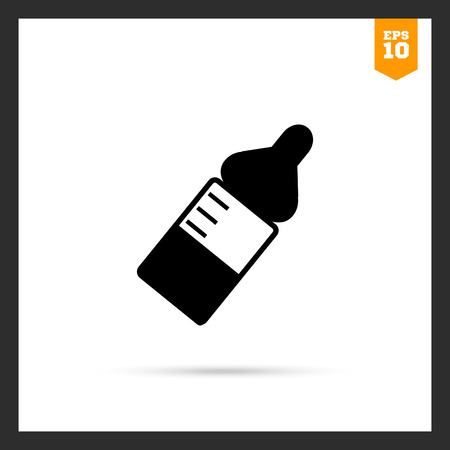 nipple: Icon of baby bottle with nipple and scale