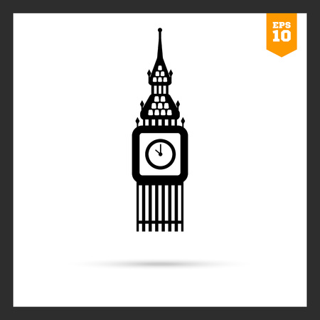 big ben tower: Icon of Big Ben tower Illustration