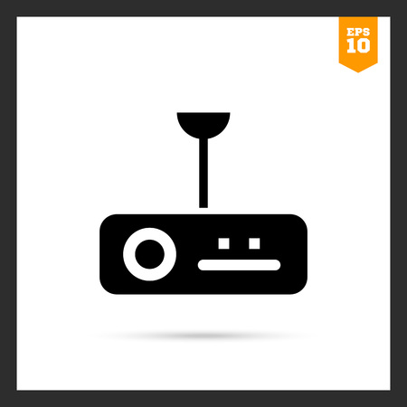 digital: Icon of digital projector Illustration