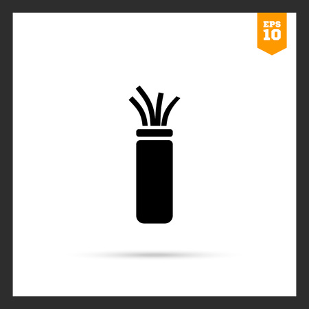 cabling: Electric cable icon Illustration