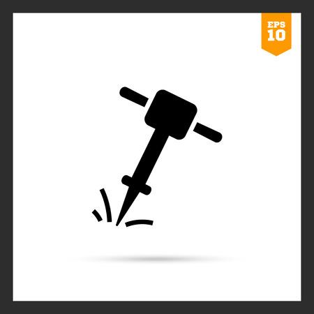 presslufthammer: Icon of working jackhammer