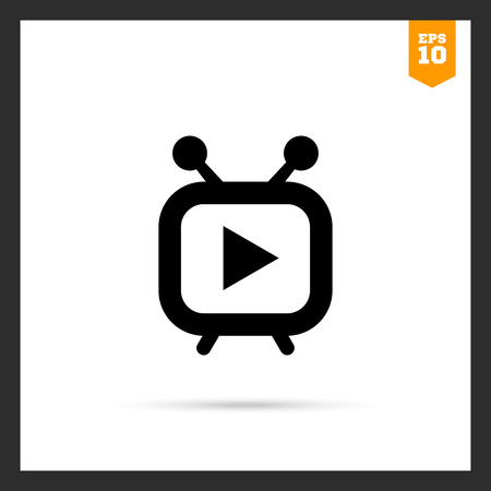 windows media video: Icon of stylized media player Illustration