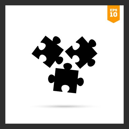 disconnected: Vector icon of disconnected puzzle elements
