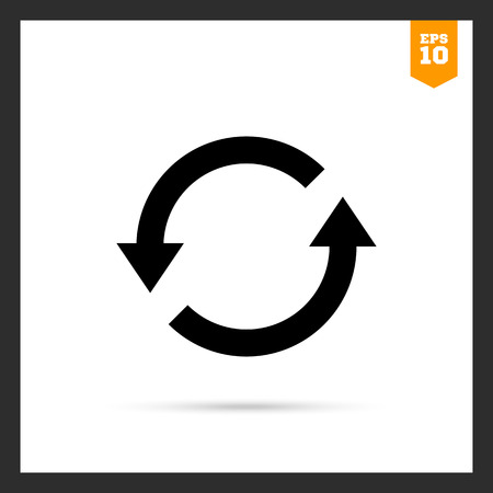 reviser: Icon of reload sign with arrow circle pictogram