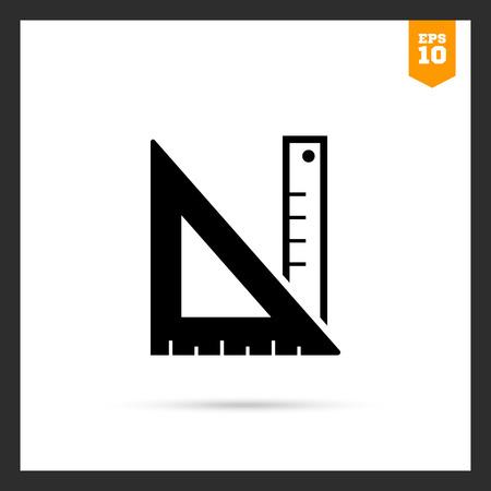 objetos cuadrados: Icono de la regla y colocados en ángulo recto