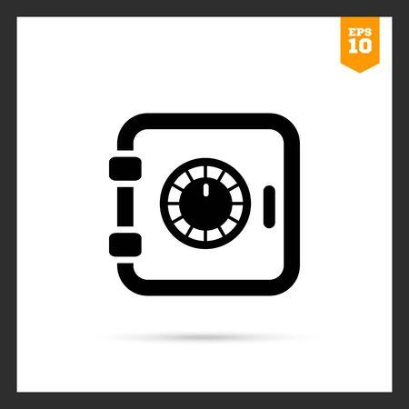 safe box: Safe box icon Illustration
