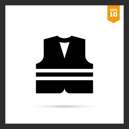 noticeable: Safety vest icon Illustration