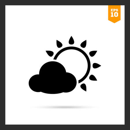 covered: Icon of sun covered with cloud