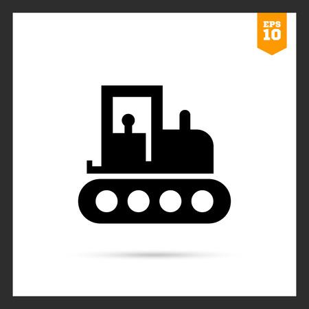 crawler tractor: Tractor icon Illustration