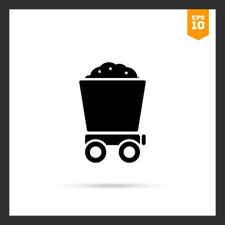 loaded: Icon of loaded wagon Stock Photo