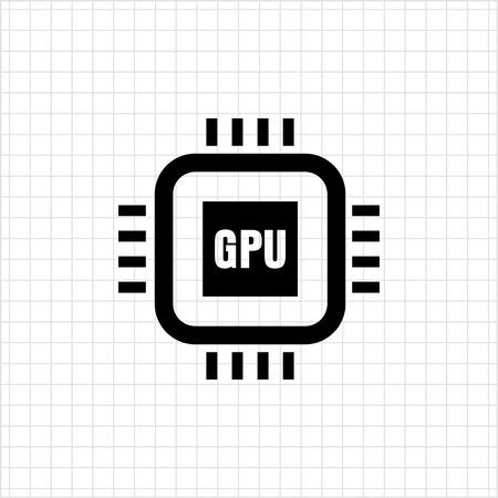 gpu: Icon of general processing unit