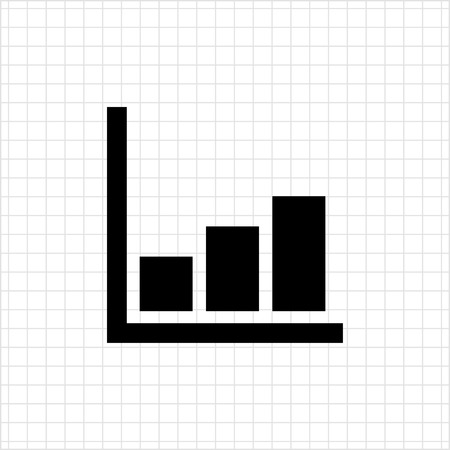 histogram: Icon of growing histogram