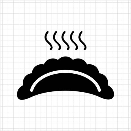 Vector icon of hot ravioli with steam Stock Vector - 48256390