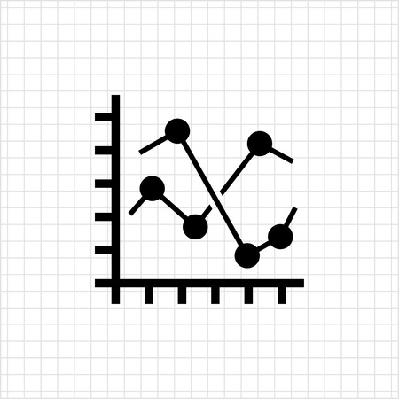 fluctuation: Line histogram icon