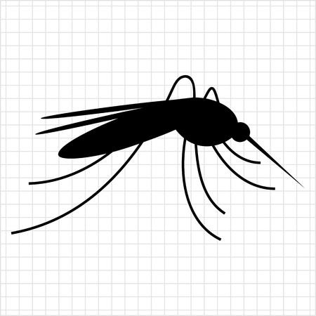 mosquito bite: Mosquito icon Illustration