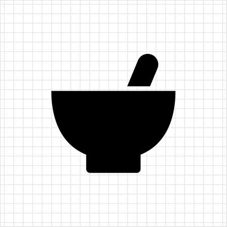 pestle: Icon of mortar and pestle Illustration