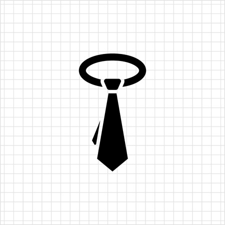 necktie: Necktie icon Illustration