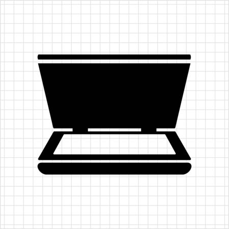 copy machine: Vector icon of scanner with open cover