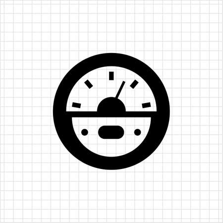 Vector Icon Of Round Parking Meter Symbol Royalty Free Cliparts ...