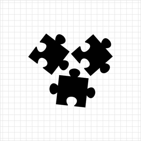 disconnection: Vector icon of disconnected puzzle elements