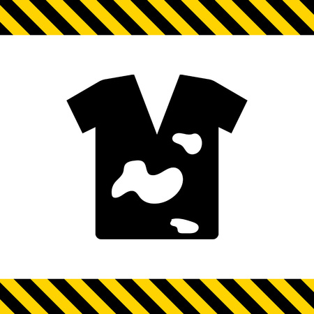 dirty t shirt: Icon of dirty t-shirt with stains