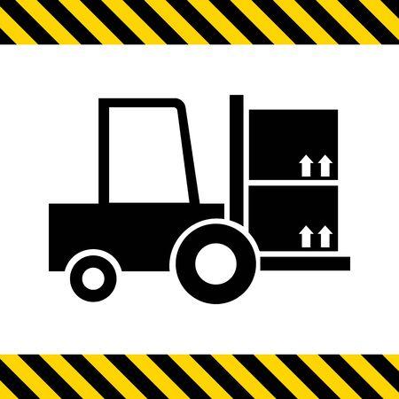 Icono de la carga carretilla elevadora tenedor Ilustración de vector