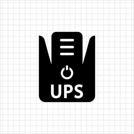 power supply: Icon of uninterruptible power supply Illustration