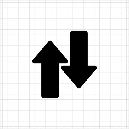 downwards: Icon of upwards and downwards arrows