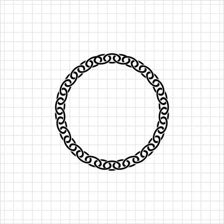 chunky: Icon of round chunky metal chain