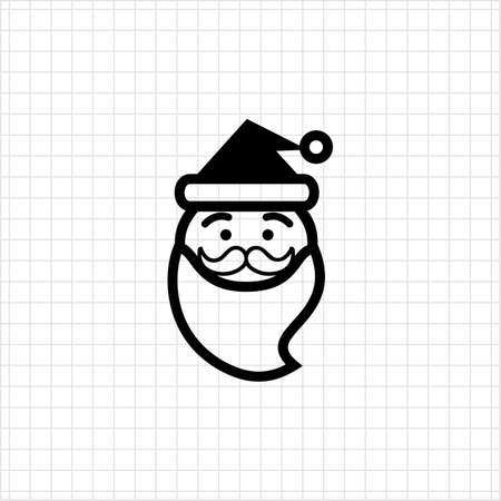 santa claus face: Icon of funny Santa Claus face Illustration