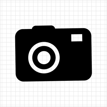 snapshot: Icon of digital snapshot camera silhouette