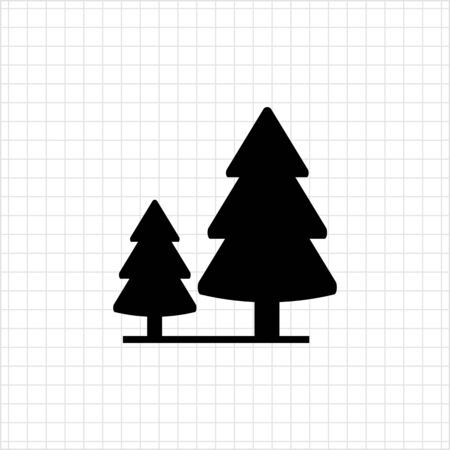 softwood: Icon of wood sign with two fir trees