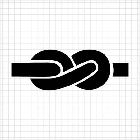 tied knot: Icon of tied knot made of rope Illustration