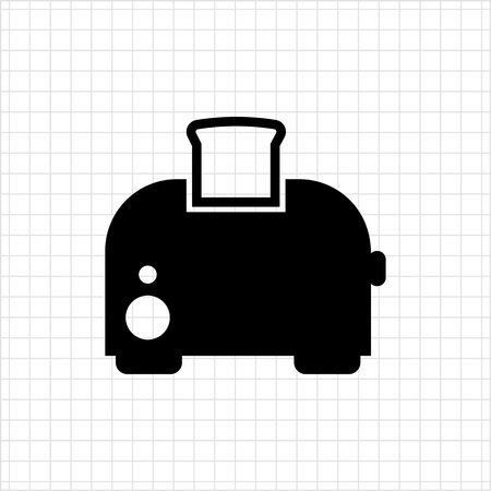 Icon of kitchen toaster with bread slice