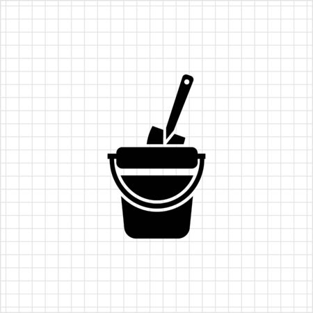 bucket and spade: Icon of toy bucket and spade
