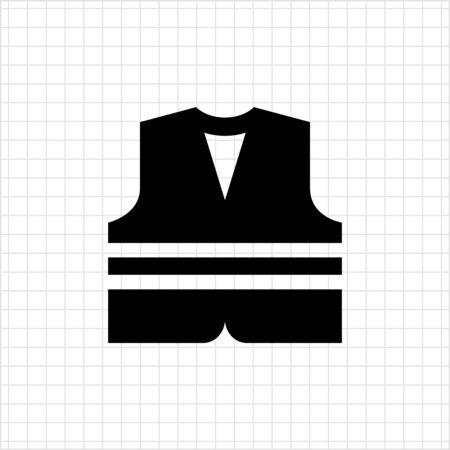 Icona giubbotto di sicurezza Vettoriali