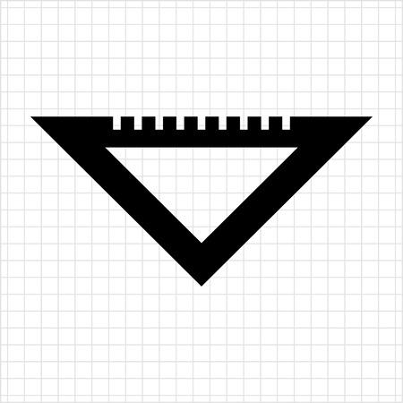 draftsman: Set square icon