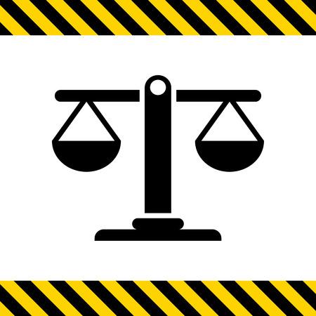 comparing: Icon of balanced scales Illustration