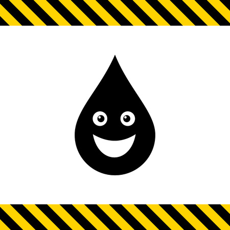 hematology: Vector icon of cute smiling liquid drop