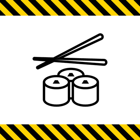 chopsticks: Icon of sushi and chopsticks Illustration