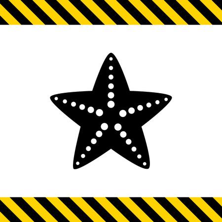 estrella de mar: Icono de las estrellas de mar Vectores