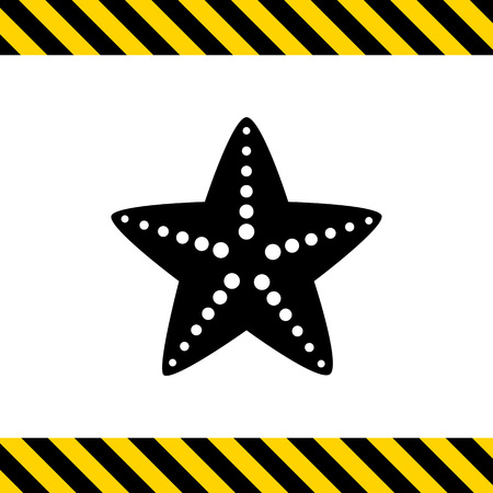 starfish beach: Starfish icon Illustration